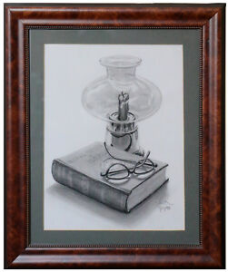 Grant Book Storm Lamp Original Drawing 14 X 17 Frame Ebay
