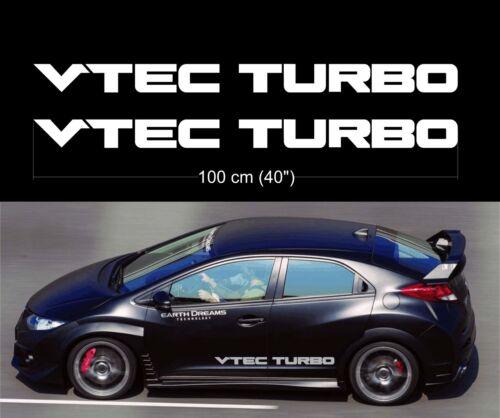 Vtec Turbo Honda Sohc Dohc mugen Civic TypeR JDM decal doors car glass sticker