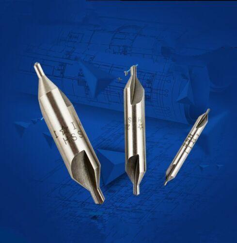 5 Pcs HSS Center Drills Countersinks 60 Degree Angle Bit 2.0mm High Speed Steel
