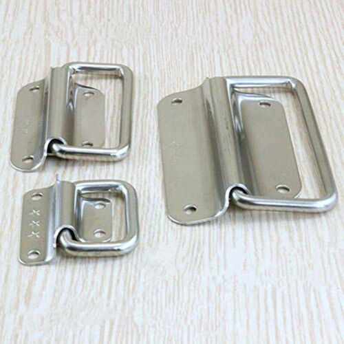 Stainless Steel Spring Folding Pull Handle for Cabinet Drawer Door Home Tool