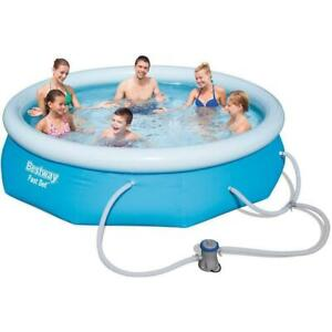 Bestway 57269e 10 FT Wide X 30 in Deep Fast Set Pool Above Ground