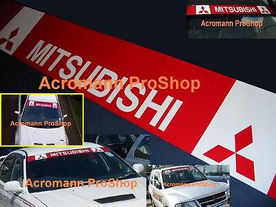 "53"" Mitsubishi Windshield Sunstrip Decal Sticker Pajero EVO Lancer rally wrc GSR"