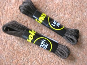 gt-gt-TWO-PAIRS-Brown-Shoe-Laces-90cm-Round