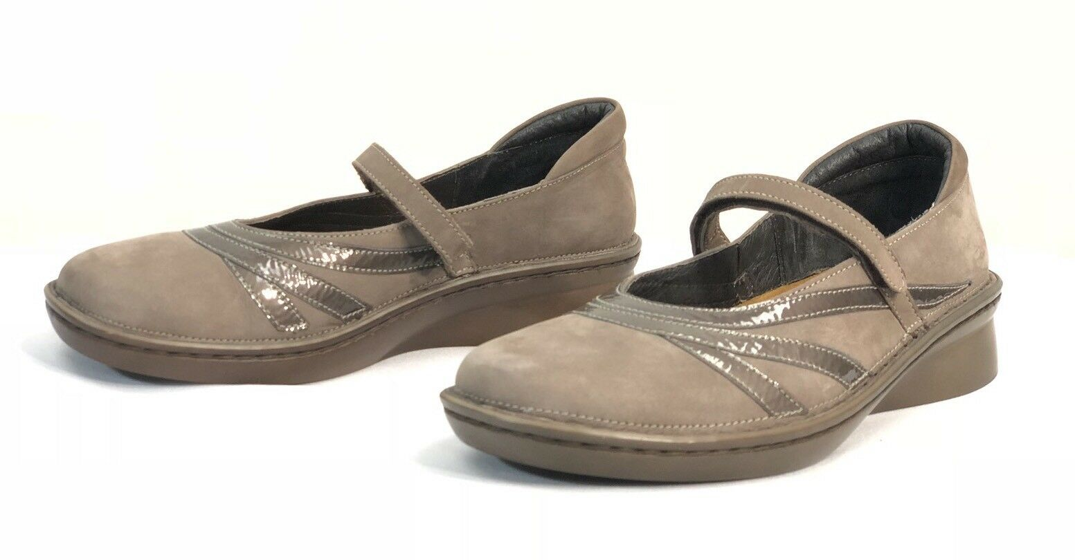 Naot femmes Taupe Suede Mary Janes Sandals Taille EU 39 US 8 Excellent