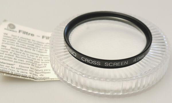 (prl) Filtro Posso Cross Screen Filter 49 Mm Filtre Filtru Photo Camera