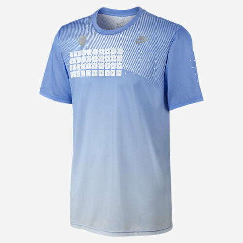 Nike Flyknit Presto Men/'s T-Shirt Size XL 823325 497 Blue 100 Gray New with Tags