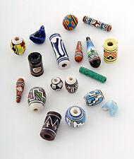 Tumi Peruvian ceramic beads clay beads hand painted mix x 100 fair trade Peru