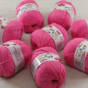 DK Baby Cashmere Silk Wool Crochet Children Hand knit Scarf Yarn 1x50gr Ball 08