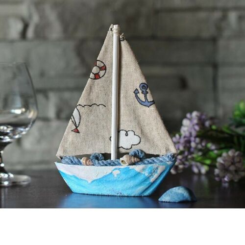 Nautical Decor Canvas Sailing Wooden Decor Seaside Ornaments Desktop