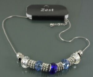 STATEMENT-NECKLACE-WITH-MIXED-BLUE-AND-CLEAR-CRYSTAL-CHARM-BEADS-BY-ZEST