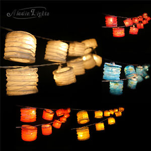 GaiaShine Chinese Paper Lanterns String Fairy Lights Party XMAS Deco Lamp UK eBay