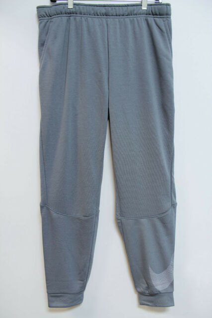 eca9dc6b3e0 NIKE DRY DRI-FIT TRAINING PANTS COOL GRAY SILVER JOGGERS SWEATPANTS MENS  SIZES