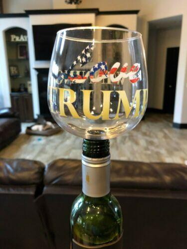 Love trump wine glass Guzzle Buddy 2 Go...MAGA #Winning