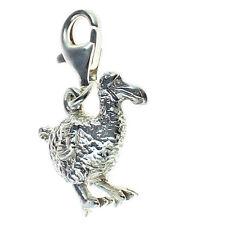 Sterling 925 in argento Dodo estinte Bird Clip CATTURA fascino da saldare Bliss