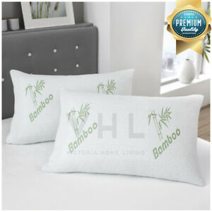 New-Luxury-Soft-Bamboo-Memory-Foam-Pillow-Anti-Bacterial-Premium-Support-Pillow