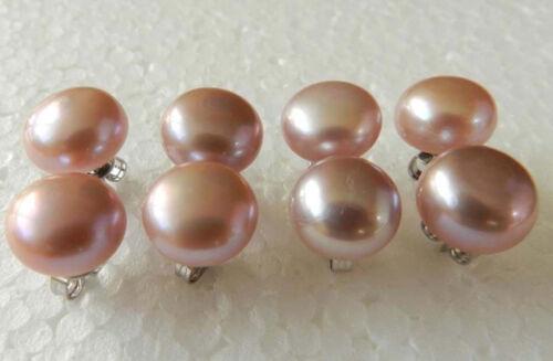 Wholesale 10-11 mm rose akoya mer perle Boucles d/'oreilles 4 paire JE233