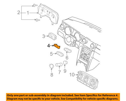 FORD OEM 05-09 Mustang Dash Cluster Switch-Blank Cover 7R3Z19K357AA