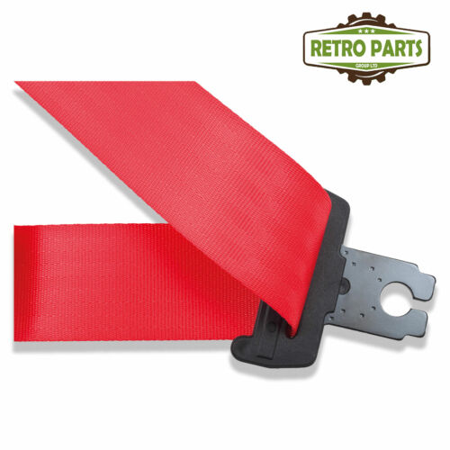 Front Automatic Seat Belt For Lancia Fulvia Zagato Coupe 1970-1973 Red