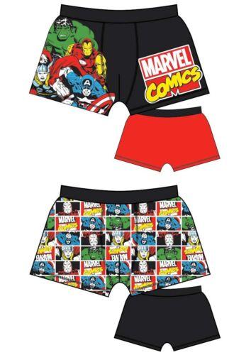 Uomini Personaggio Boxer confezione 2 Pantaloncini Da Bagno Pantaloni Intimo Slip Novelty dono