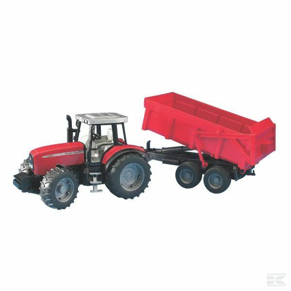 Bruder Massey Ferguson 7480 1 16 Scale Model Tractor With Trailer Collectable