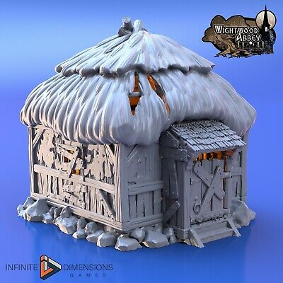 Wightwood Abbey Medieval Ancient Tomb Tabletop Scatter Terrain RPG War Games