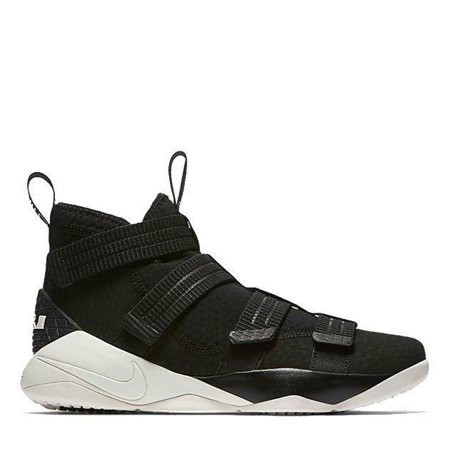 super popular 0f604 1ca10 NIKE LEBRON SOLDIER XI 11 SFG 897646 004 BLACK/SAIL WHITE/RACER BLUE -  STRAPS