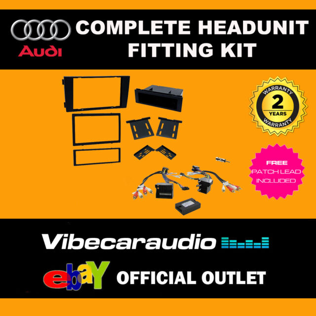 Connects2 CTKAU08 Audi A6 2004-2008 Single Din Facia Steering Wheel Fitting Kit