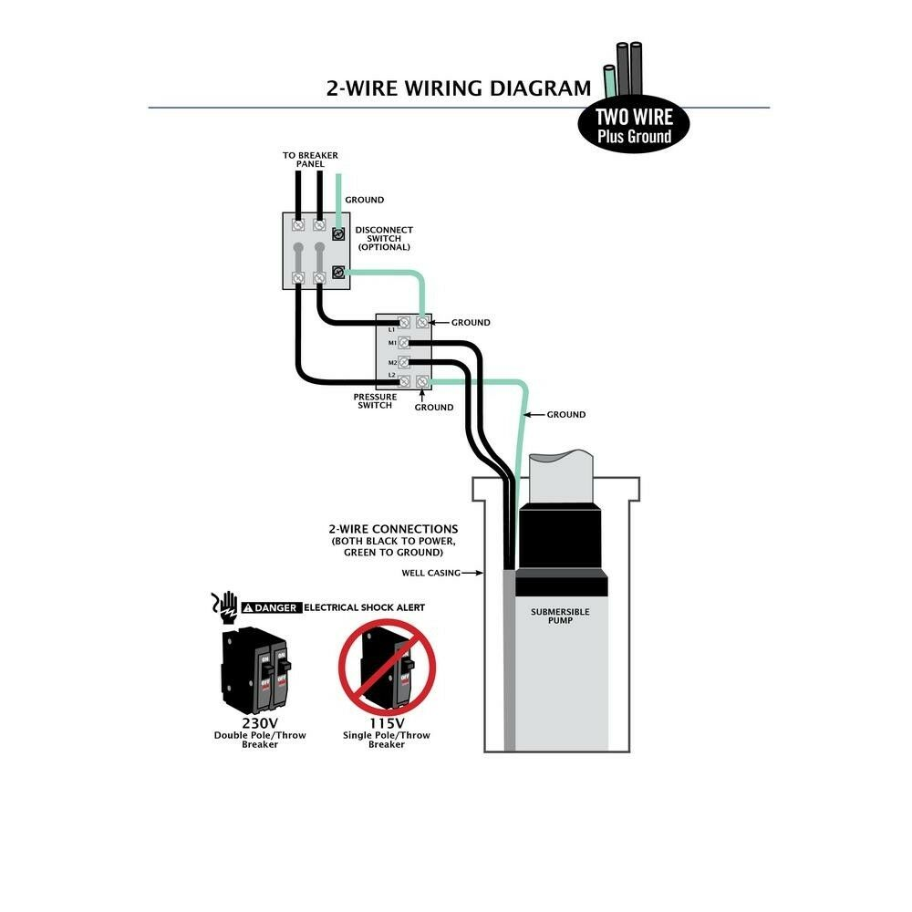 2 Wire Submersible Pump Wiring Diagram - list of schematic circuit