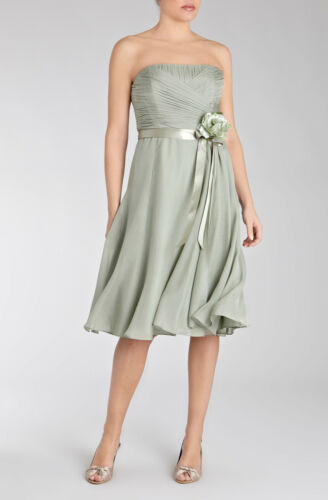 Occasion Pleated Silk Prom Ex Party Races Bandeau Cocktail Formal Dress Coast 6Eq11xTwz
