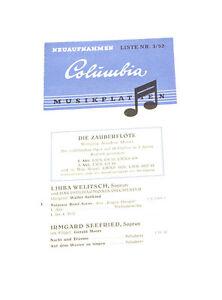 k157 Schrumpffrei GüNstig Einkaufen Columbia Musikplatten Katalog 5/52top Zustand