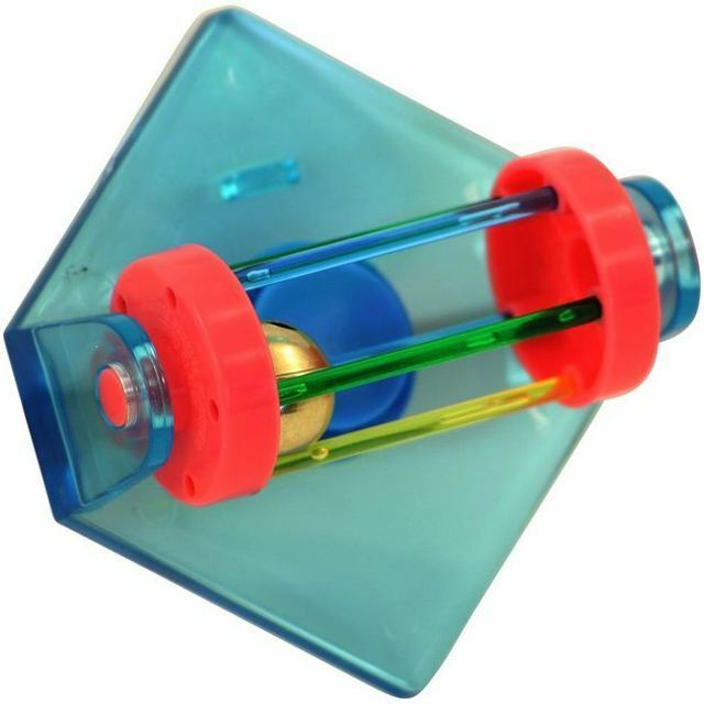 TUMBLE BELL BIRD TOY FIT WIRE CAGE ROTATING BARREL AND BELL FOR BUDGIE COCKATIEL
