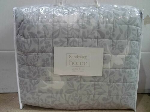 Sanderson Larksong Pebble Grey Bedding Cover Sets, Curtains, Throw, Cushions