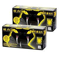 Black Mamba Gloves 2 Box Of 100 Nitrile Durable Septic Hvac Mechanics