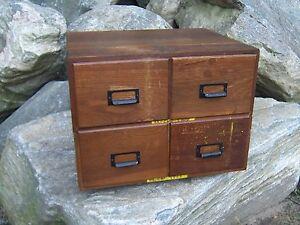 Image Is Loading Antique 4 Drawer Oak File Box Cabinet Postcard