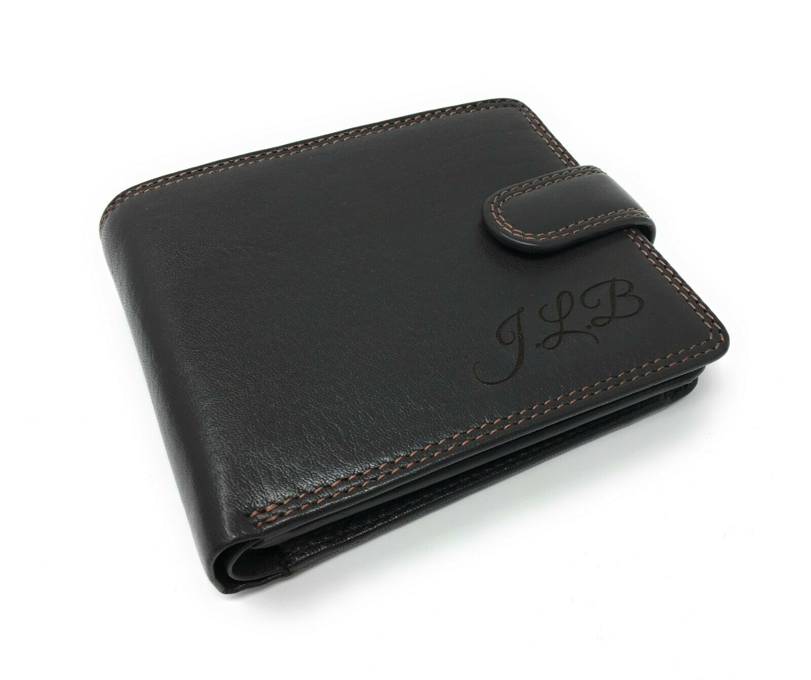 Unusual Personalised RFID Leather Wallet Fathers Day Best man free message plate