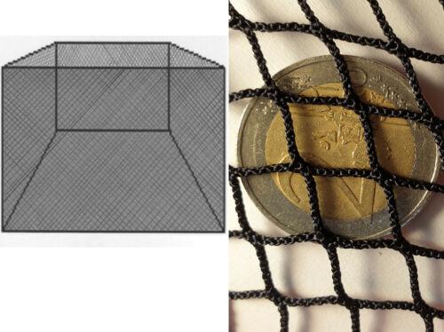 Poisson enclos Hälternetz 2x2m #10mm knotenlosegarn KOI CARPE TRUITE senne.
