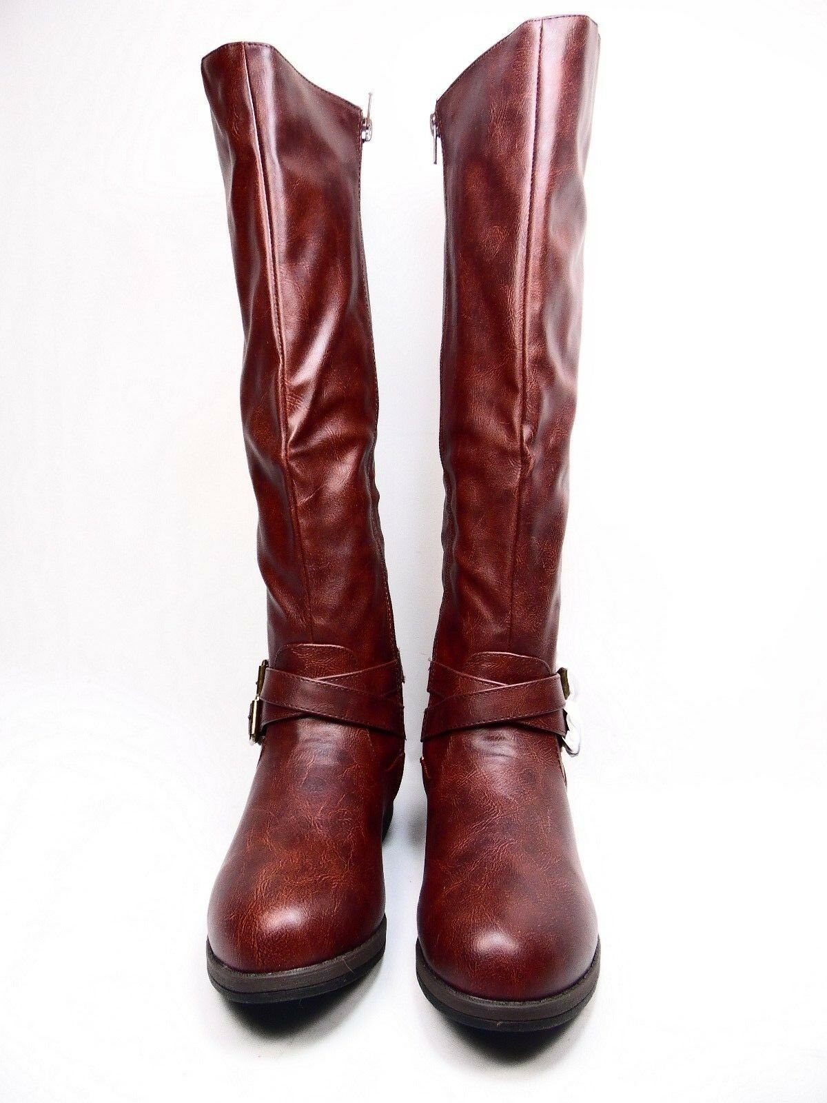Journee Collection April Wide Calf Women  Synthetic Brown  Knee High Boot Brown Synthetic Size 7 eab097