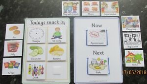 Routine-boards-amp-pecs-cards-Communication-SEN-Autism-Learning-Home-use