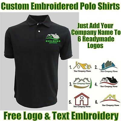 Personalised Embroidered Builder Polo