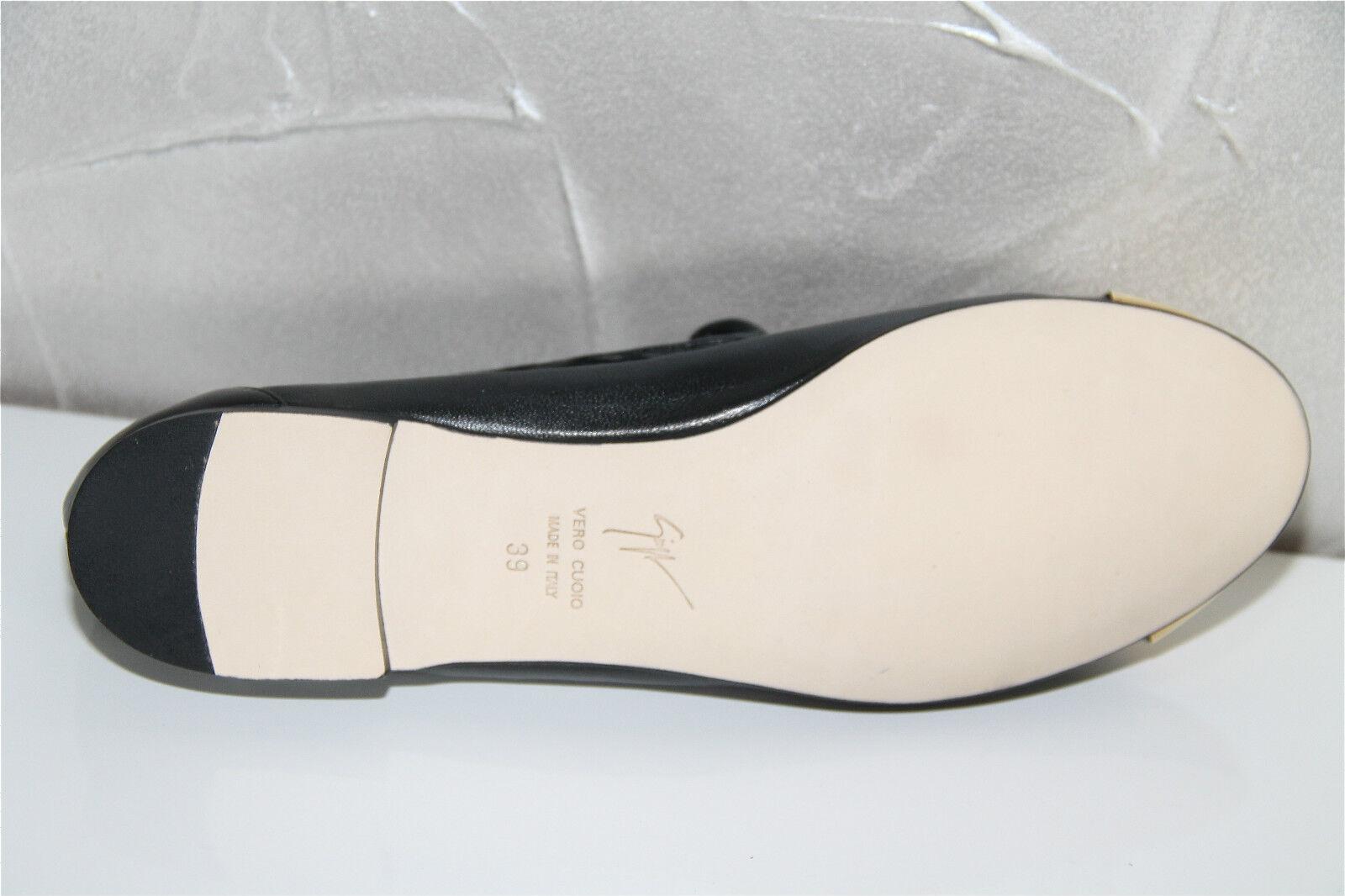 GIUSEPPE ZANOTTI DESIGN value black moccasins leather woman E46059 NEW value DESIGN 595 228d33