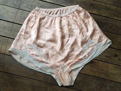 Vintage 1930s Silk Pink Tap Shorts Lace Lingerie