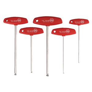 Wiha 54090 MagicRing® Ball-End Hex Metric T-Handle Set 5 pieces