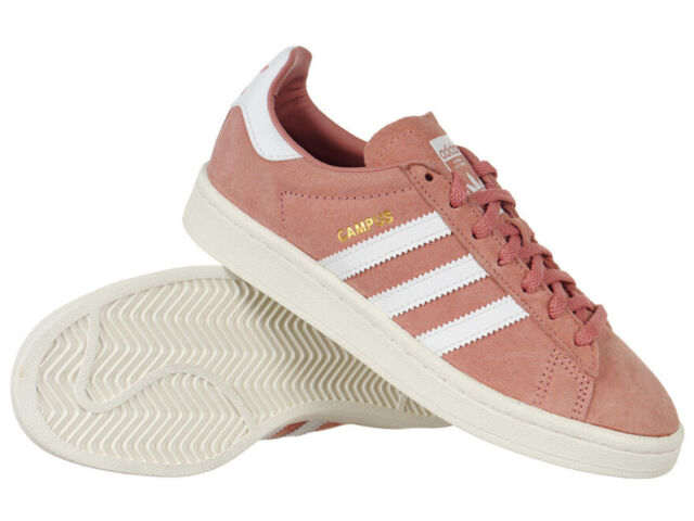 Women's adidas Originals Campus Shoes Pink Leather Everyday Trainers