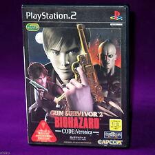 Gun Survivor 2 Biohazard Code Veronica Resident Evil Japan PS2 Action Game