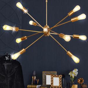 Pendel Lampe Schlaf Gäste Zimmer Gold Hänge Decken Strahler Kegel Form Leuchte