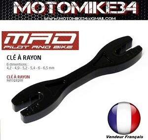 ObéIssant Cle À Rayons Moto/custom/cross Mx//vÉlo 6 Tailles 4,2-4,9-5,2-5,6-6,5mm Faire Sentir à La Facilité Et éNergique