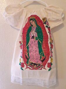 Nuestra Señora De Guadalupe Mexicano Vestido Niñas Talla 4