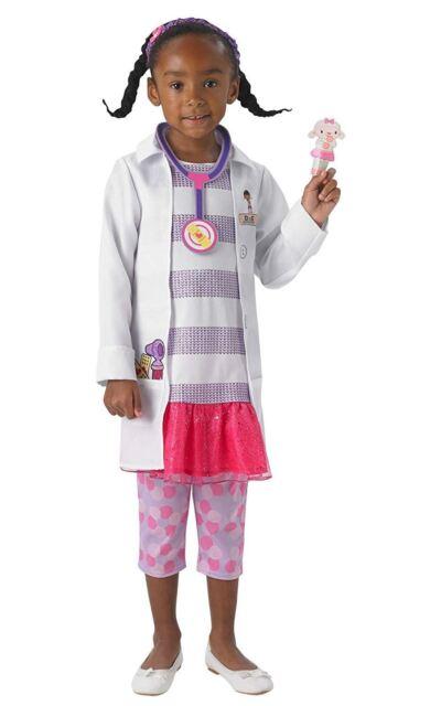 Doc McStuffin Girls Fancy Dress Disney Doctor Uniform Kids Childrens Costume New