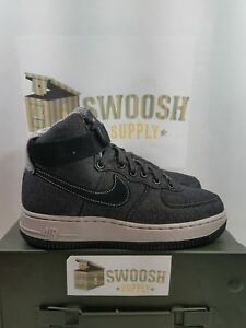 on sale e6be0 37db1 Image is loading Nike-Air-Force-1-Hi-SE-Black-Dark-