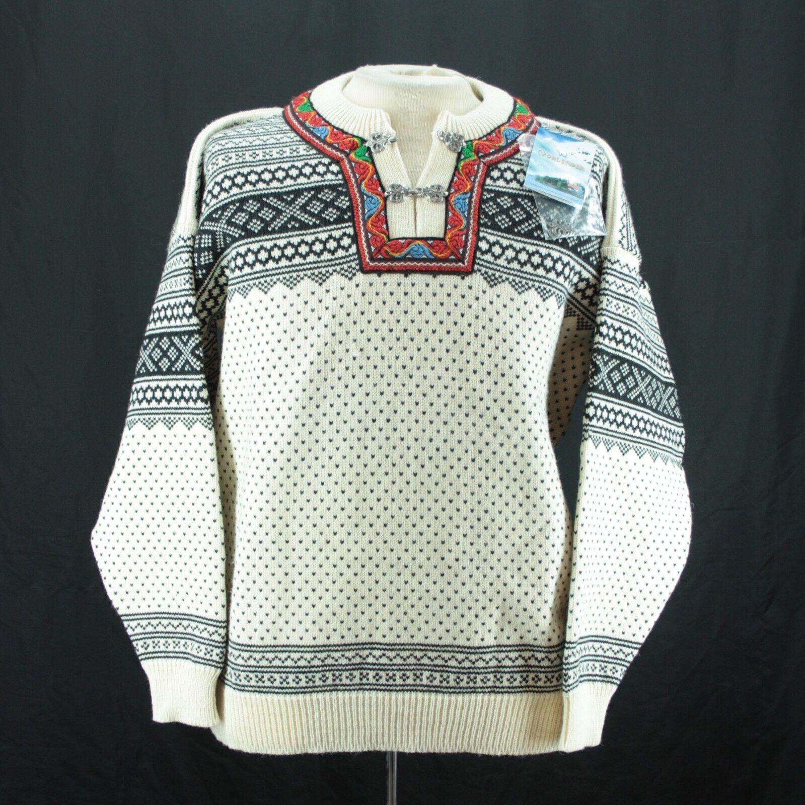Large Norlender Scandinavian Wool Sweater Wool Clasp Nordic Norway